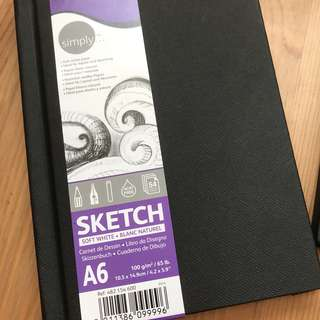 Daler Rowney . Simply Sketch A5 or A6 Journal . Acid Free 100gsm
