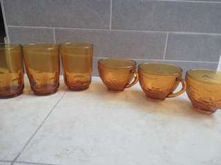 Sets of 6 each high temperature glass