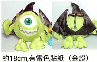 🚚 怪獸電力公司大眼仔萬聖節蝙蝠翅膀娃娃