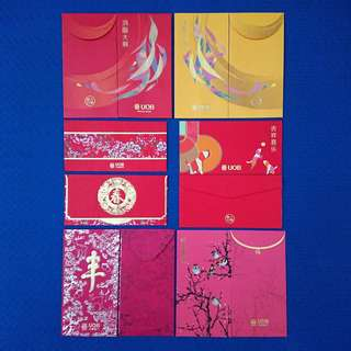 BN UOB 12pcs Assorted Red Packets (B)