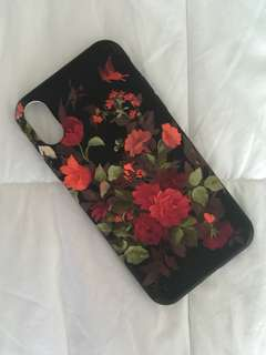 IPhone X Floral Casing