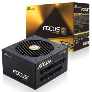 SEASONIC Focus Plus 550FX 80 Plus Gold Fully Modular Power Supply