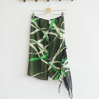 Green Motif Skirt