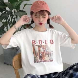 [PO] White BOLD Casual Tshirt/Top