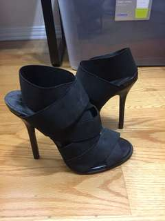 Zara Strappy Black Heels