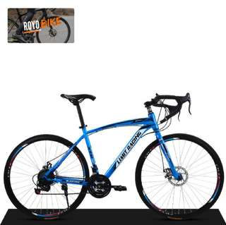 "➡ XTC Limit Racing 26"" Carbon Steel 21-Speed Hydraulic Brakes Road Bike  (Black & Blue) - $228"