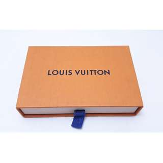 法國知名品牌【LOUIS VUITTON路易威登】   橘色 抽屜式 紙盒 收納盒 空盒 ,(13.5x8x3) 接近全新