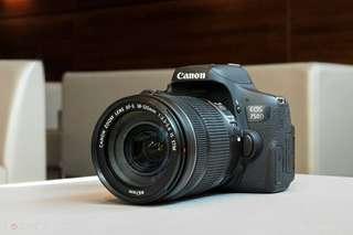 Kamera DSLR Canon EOS 750D kredit bunga 0%