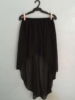 ZARA Long Back Skirt