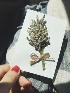 Dried flower card/ Bouquet card/ flower card/ gift card/ birthday card