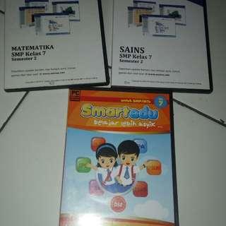 CD Pembelajaran Zenius & Smartedu utk SMP kls 7