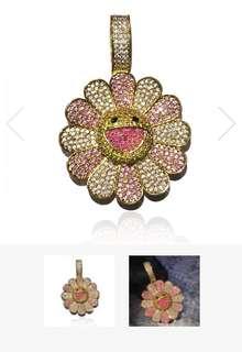 Murakami fidget spinner necklace