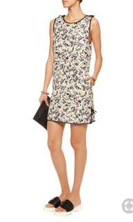 MSGM Floral Print Cotton Mini Dress
