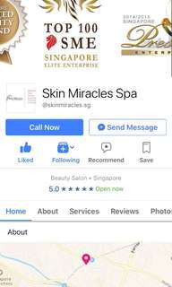 $1000 credit skin miracles facial/nail/massage package for only $900