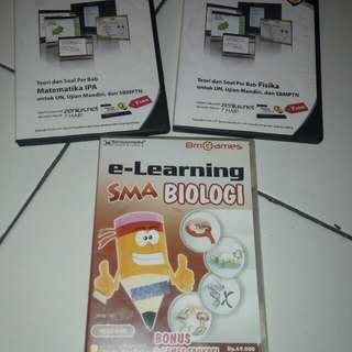 CD Pembelajaran Zenius & E-learning utk SMA kls 12