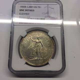 British Trade Dollar 1900 silver $1 coin