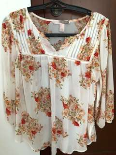 Forever 21 summer top motif floral/flower