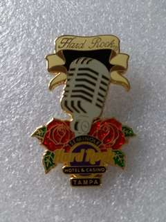 Hard Rock Cafe Pins ~ TAMPA HOTEL & CASINO HOT 2015 OLD FASHIONED MICROPHONE PIN!