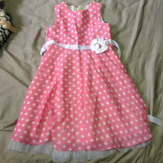 Pink Polka Dotted Dress