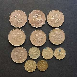 Hong Kong China coins