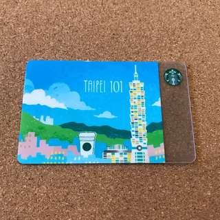 Taiwan Starbucks Card Taipei 101