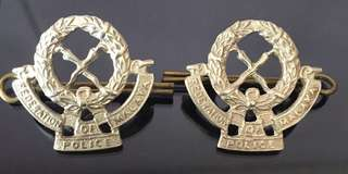 Federation of malaya police collar pin
