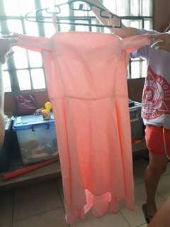 """Chill"" formal dress color pink"
