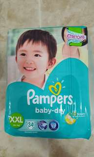 3 pkts Pampers Baby Dry Diapers
