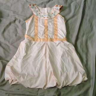 Embroidered Peach Girl's Dress