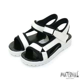 🚚 防磨魔鬼氈輕量運動涼鞋/白色