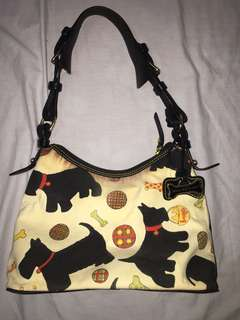 Auth Dooney & Bourke Puppy Design Shoulder Bag