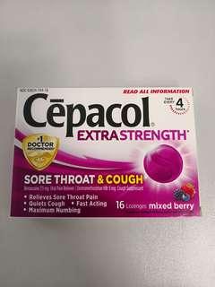 美國購入 Cepacol 思必樂 喉糖 Sore Throat & Cough 16 Lozenges