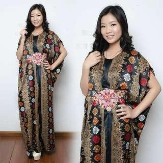 HLY dress maxi kaftan calista l atasan fashion baju muslim gamis batik baju lrbaran kaftan batik