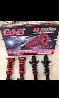 Toyota Altis 08-12 Gab high/low soft/hard Adjustable Absorber.