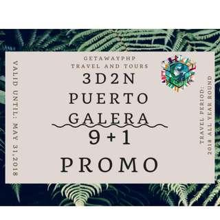 3D2N PUERTO GALERA 9+1 ALL IN PROMO