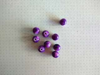 7mm purple round beads