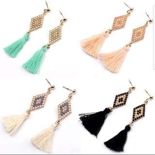 🎀Trendy Beaded Tassel Earrings