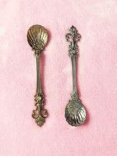 🚚 洛可可式金銀裝飾湯匙