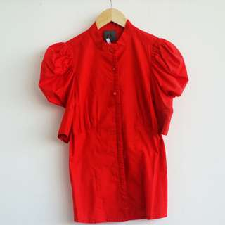 CK Red Blouse