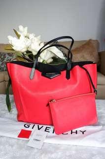 Givenchy Antigona Shopper GM Tricolor Red,Beige, Black