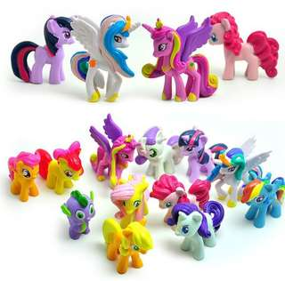 🚚 12pcs/Set Lot My Little Pony Friendship Is Magic Action Figure Kids Toys