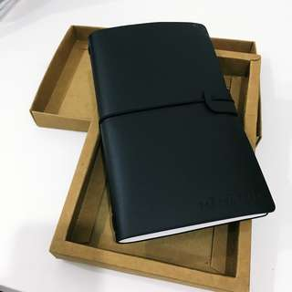 Leather Notebook (Black/ New)