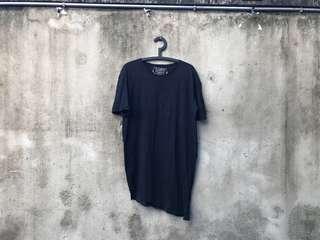 🚚 PULL&BEAR 黑色不規則下擺 上衣