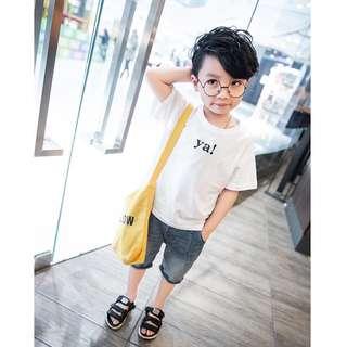 《預購》童裝男童字母短袖T恤夏裝新款中大兒童短袖T恤韓版