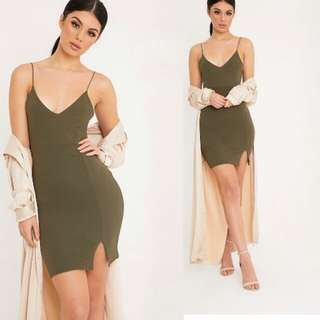 Strappy Plunge bodycon