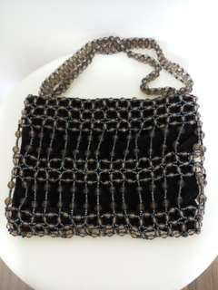Vintage Party Bag (Beads & Suede)
