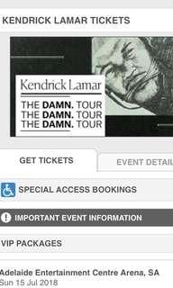 Kendrick Lamar 2x A reserve tickets