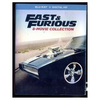 Fast And Furious 8-Movie Collection - New Blu-Ray