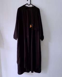 miza dress by local brand evolvere, size xl ld 110, warna black, no defect, bahan premium gorgette.