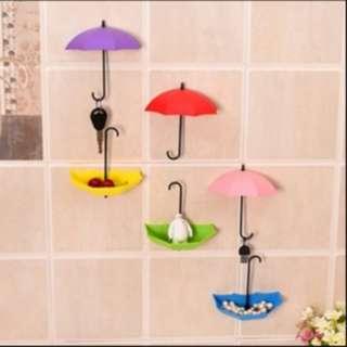 Gantungan serbaguna untuk pajangan kunci lap dll bentuk payung KHE032